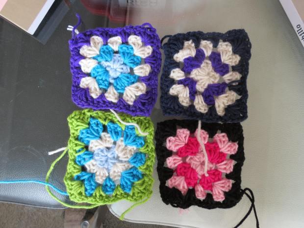 Mis primeros grannys squares!