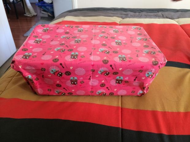 Así venía envuelto mi regalo :D