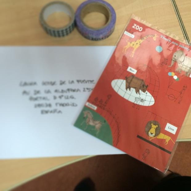 Postal que se fue para Madrid
