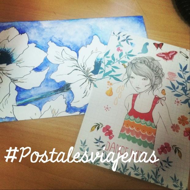 Postales que recibí de España de Ester y Josie quien la diseño personalmente